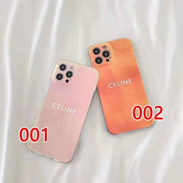 キラキラ 綺麗 セリーヌ iphone12pro/13pro maxケースアイフォン13/12miniカバー ブランド 透明感 虹色 Phone11pro/11pro maxスマホケース ジャケット型