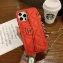 Chanel/シャネル iphone 12/12pro maxスマホケース カードボケっと付き ファッション 高級革 おしゃれ アイフォンxs/x/xs maxカバー ストラップ付き 女子