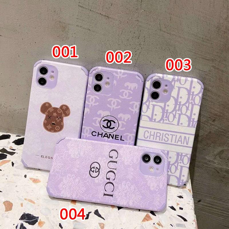 紫 グッチ シャネル iphone12/12pro maxケース 女子 ディオール アイフォン iphone 12mini/12proスマホケース 上品 綺麗 おしゃれ かわいい アイフォン 11/11proケース
