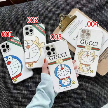 ドラえもん Gucci/グッチ iphone 12 pro/12 pro max携帯ケースカバー 白シンプルスタイル 高級感 アイフォン12/12 mini/12 pro/se2ジャケットケース ファッション 流行り 男女兼用