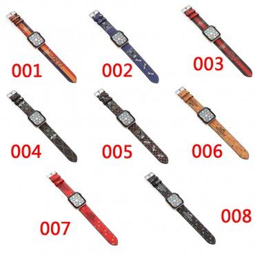 Gucci/グッチ Hermes/エルメス Apple Watch7/6/seベルト ファッション アップルウォッチ7バンド ブランド レディースバンド 女性 Apple Watchストラップ高級感