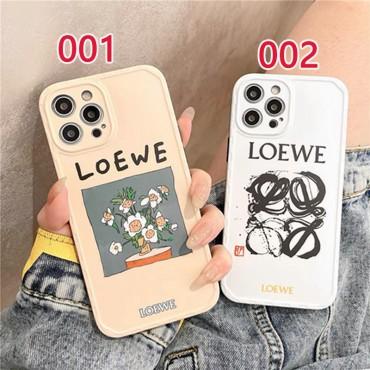 ブランド ロエベ iphone12pro/12promaxスマホケース シンプル ジャケット型 花柄 かわいい LOEWE iphone 12/12mini/11/13ペアケース アイフォン携帯カバー シリコン 男女兼用