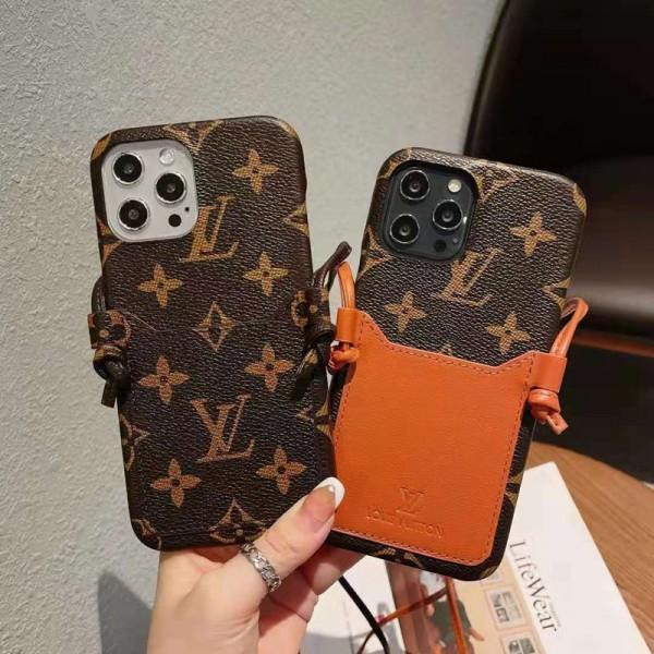 Louis Vuitton ルイヴィトン アイフォンiphone12/12pro maxスマホケース 革製高級感 ストラップ付き iphone 11/11pro max/11proケース カード収納 クラシック モノグラム