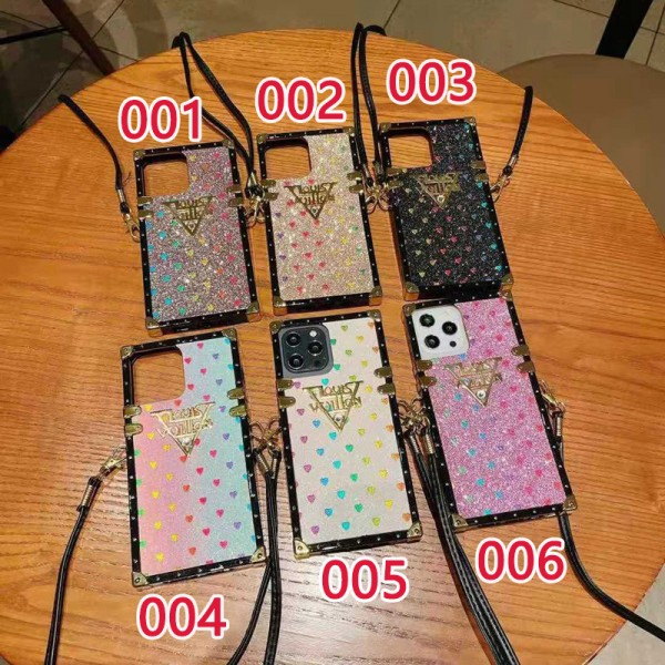 かわいいルイヴィトン iphone12/12mini/12pro/12promax アイフォンケース ゴージャス キラキラ ハート柄 Louis Vuitton GALAXY S21/S21+/S21 ULTRAケース