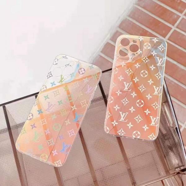 LOUISVUITTON ルイヴィトン アイフォン13/12miniスマホケース シンプル 可愛い ヴィトン iphone12promax透明ケース 彩り 虹見ない色 iphone11/11proハードケース 女子