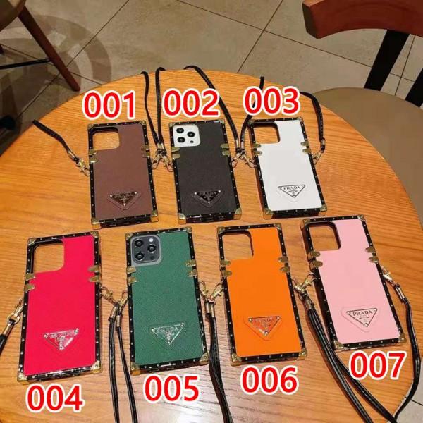 ハイブランド プラダ iphone12/12pro/12 pro maxトランクケース ファッションシュー 高級感 Prada/プラダ galaxy s21/s21+/s21 ultraケースカバー ストラップ付き レディース向け