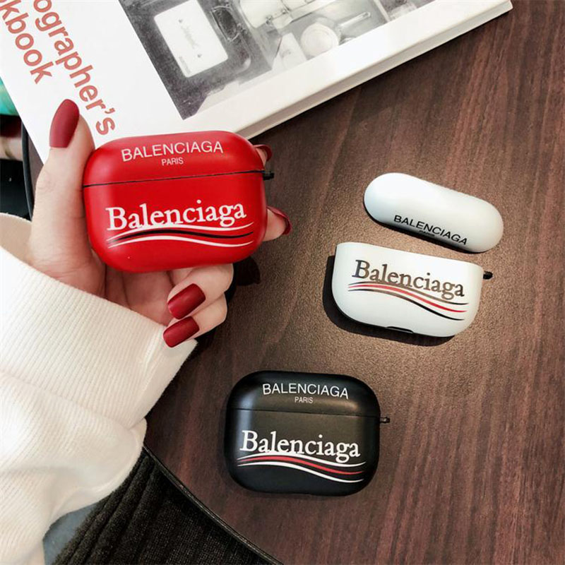 Balenciaga バレンシアガ ブランドエアーポッズ プロ収納ケースAir pods proケース保護 軽量Air pods 3/2/1ケースブランドAir pods proケース 防塵 落下防止
