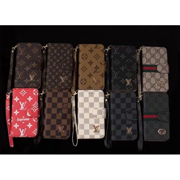 ルイヴィトン モノグラム+チェック柄  グッチiphone11/11pro/11pro maxケース即納品iphone xr/xs maxケース手帳型 lv iphonex/xsケース人気 ストラップ付き 男女兼用 gucci iphone