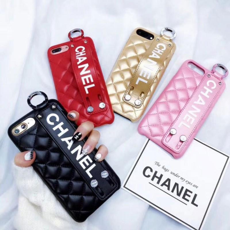 シャネル iphone iphone12/12pro/12pro maxケース即納品xr/xs/x/xs maxケース お洒落 ブランド phone x/xs/8plusケース シャネルロゴ付け ハンドベルト レデイース愛用