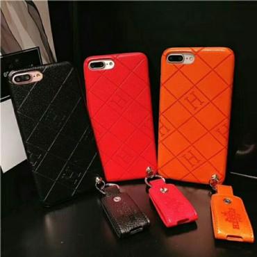 エルメス iphone xr/xs maxケース 個性ブランド iphone xs/xケース ペンダント付け アイフォン10R/8 plusジャケットケース カップル向け