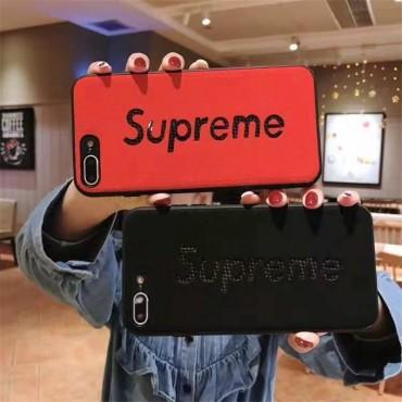 シュプリーム iphone xr/xs maxケース シンプル風 supremeアイフォンxs/xカバー 個性 iphone 7/8plusケース ファッションジャケット