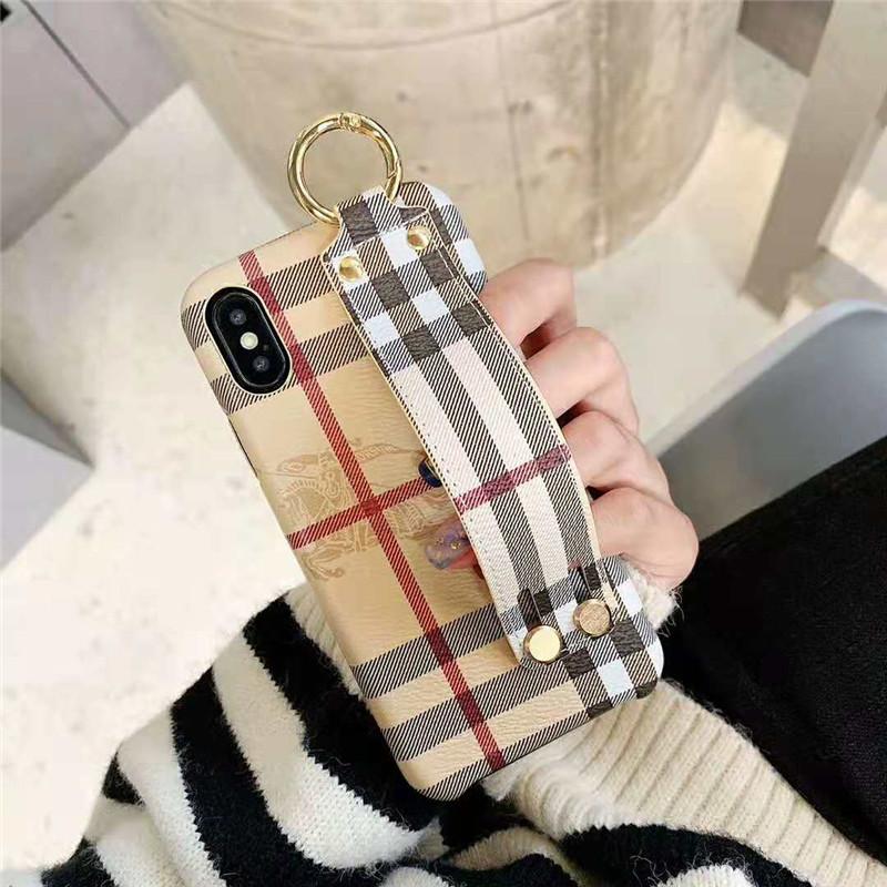 Burberry iPhone xr/xs max/xsケース バーバリー iphone x/8/7スマホケース ブランドIphone6/6s Plusカバー ジャケット カード入れ ハンドベルト付き