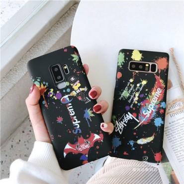 シュプリーム iphone xr/xs maxケース ステューシー アイフォンxs/xカバー お洒落ブランド supreme galaxys9/note9ケース 激安新品