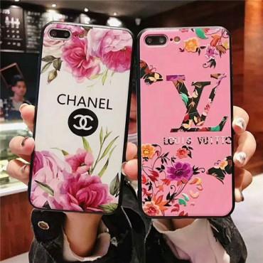 ルイヴィトン シャネル iphone xs/xr/xs maxケース iphone10ケース 花柄 綺麗 iphone x/7/8Plusケース アイフォンカバー レデイース愛用 激安新品