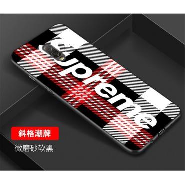 シュプリーム supreme ガラス iphone xs/xr/xs max ケース 人気  カバー 潮流 個性 Galaxy A30/s10/s10+ テンアールカバー ファッション 男女兼用 激安新品