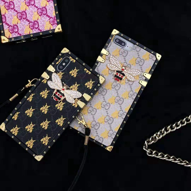 グッチ iphone x/12/12 PrOケースブランド キラキラ GUCCIアイフォン x/xsケース 可愛いミツバチ iphone xs maxケース 懐古趣味 高級 お洒落
