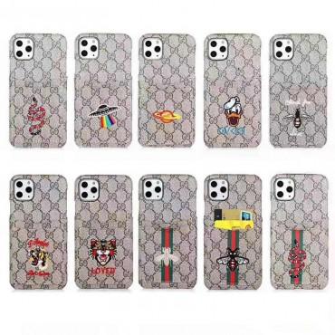 人気ブランドグッチiphone11/11pro/11pro maxケース個性iphone xs/xr/xs maxケースオシャレアイフォン  x/7/8/plusケース面白い刺繍 ファンション