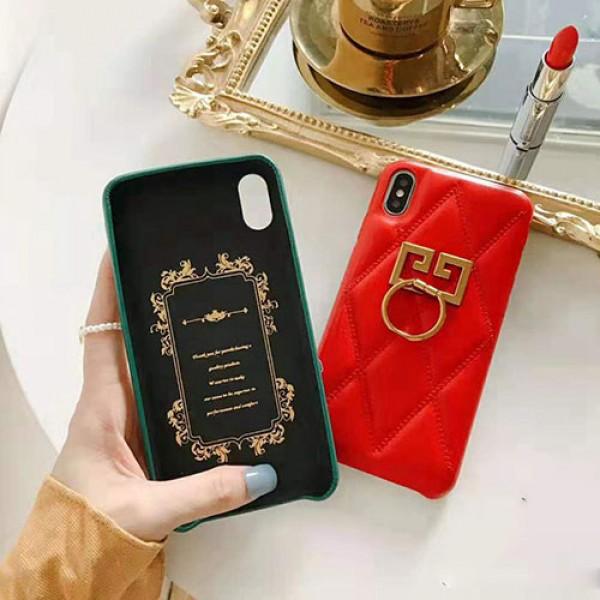 贅沢ブランドジバンシィiphone11/11pro/11pro maxケースリングホルダー付きiphone xs/xr/xs maxケース個性アイフォン x/7/8/plusケースオシャレ潮流