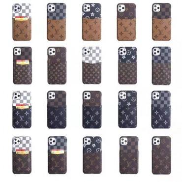 LV ルイヴィトン iphone11/11pro maxケースブランド ビジネス風 iphone xr/xs maxケース背面カード入れGalaxy s10/note10/s9 plusケース お洒落モノグラム ダミエ アイフォンx/8/7