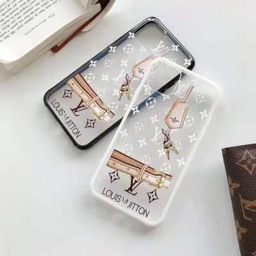 ルイヴィトン iphone11/11pro maxケースおしゃれ透明ブランド lv iphone xr/xs maxケースモノグラム アイフォン x/8/7 plusケースカップル向けファッション大人気