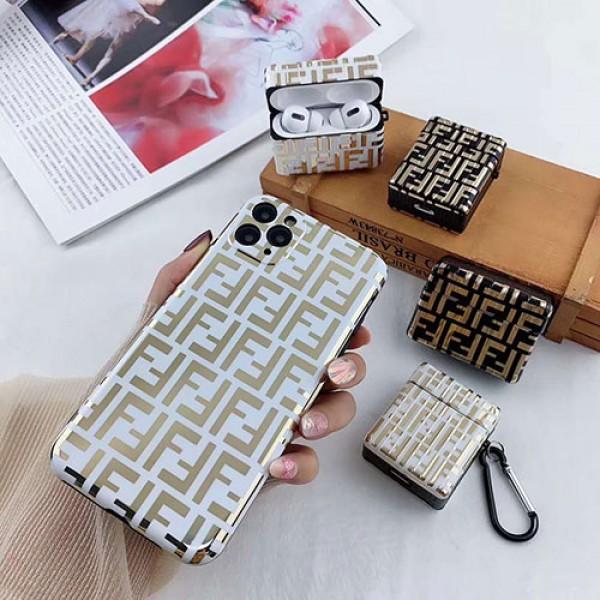 Fendi フェンデイ iphone12/11pro max/se2ケース 激安 アイフォン12カバー Air pods1/2/3ケース 耐衝撃 落下防止