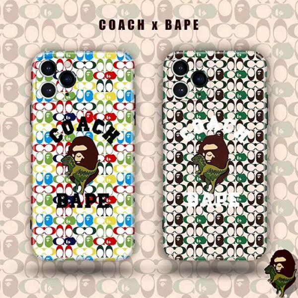 Coach/コーチ iphone12/se2/11pro maxケース 安いiphone xr/xs max/11proケースブランドジャケット型 2020 iphone12ケース 高級 人気モノグラム