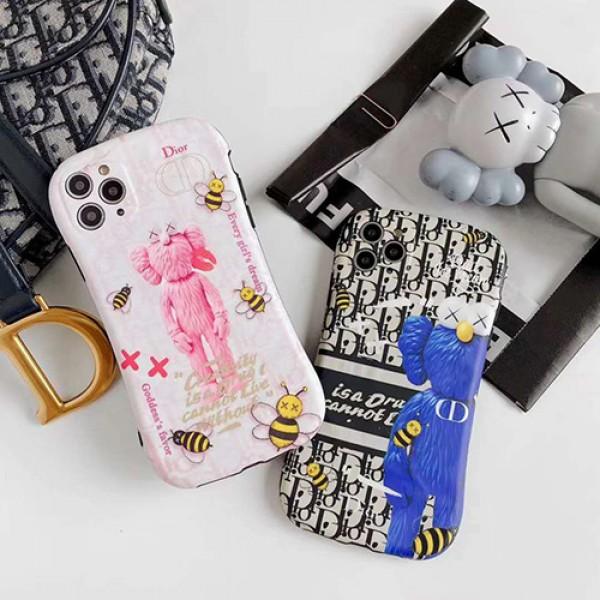 Dior ディオール女性向け iphone 11/xr/xs maxケースiphone 7/8 plus/se2ケース ビジネス ストラップ付きファッション セレブ愛用Kaws iphone12/11pro maxケース 激安メンズ iph