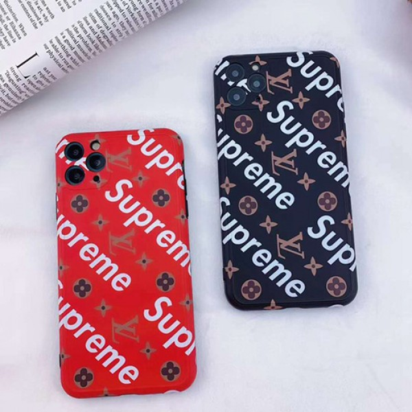 Supreme/シュプリームペアお揃い アイフォン12/11ケース iphone 8/7 plus/se2ケースアイフォンlv/ルイ·ヴィトンiphone x/xr/xs/xs maxケース ファッション経典 メンズiphone 11/11
