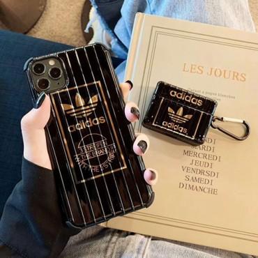 Adidas/アディダスブランド iphone12/11pro maxケース かわいい女性向け iphone 11/xr/xs maxケース ビジネス ストラップ付きiphone xr/xs max/11proケースブランド