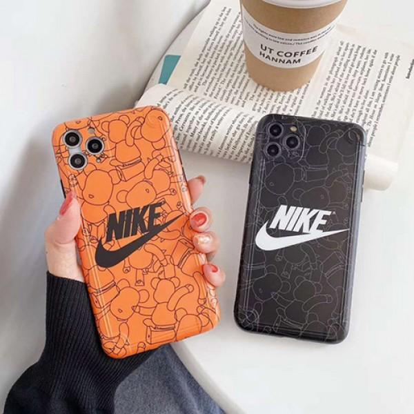 Nike/ナイキファッション セレブ愛用 iphone12/11pro maxケース 激安シンプルiPhone 7/8 plus/se2ケースGLOOMY BEAR ジャケットins風  iphone x/xs/xs max/xrケースケー