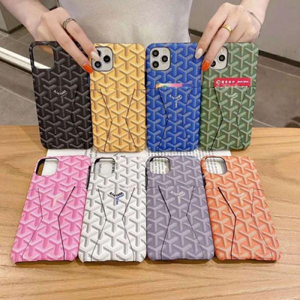 Goyard/ゴヤールブランド iphone12/12pro maxケース かわいいiphone 11/7/8/se2ケース ビジネス ストラップ付きメンズ iphone11/11pro maxケース 安いアイフォン12カバー レディース