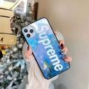 シュプリームブランド iphone12/12pro max/12 pro/12 miniケース かわいい女性向け iphone xr/xs maxケースレディース iphone xs/11/8 plusケース おまけつきモノグラム ipho