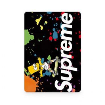 supreme ipad  8/7 世代 pro 12.9/11inch 2020ケース ブランド メンズ レディース アイパッド 6/5/4/3/2ケース 手帳型iPad Proケース 9.7ケース