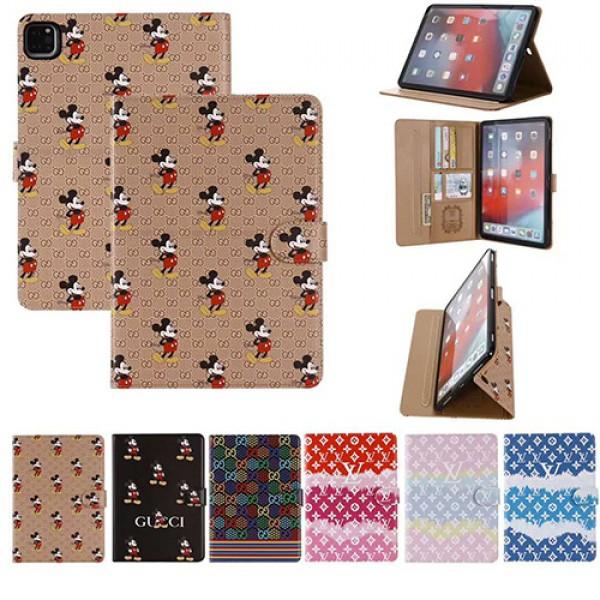 Gucci x Disneyディズニーコラボ モノグラム ダミエ アイパッド 6/5/4/3/2ケース 手帳型iPad ミニ5/4手帳型カバー ブランドパロディ?レプリカ日本未入荷iPad Proケース 9.7インチ 2018/2017新型