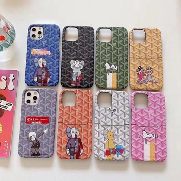 Goyard/ゴヤール iphone12/12mini/12pro/12promaxケース ビジネス ストラップ付きiphone 11/x/8/7スマホケース ブランド LINEで簡単にご注文可スiphone x/8/7 plusケース大人気iphone 12ケース ファッション