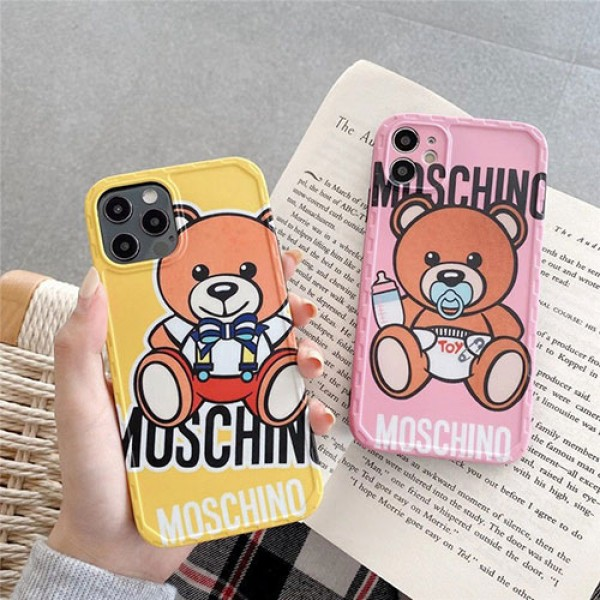 Moschino ブランド iphone12/12pro maxケース かわいいファッション セレブ愛用 激安アイフォンiphone xs/x/8/7 plusケース ファッション経典 メンズモノグラム iphone12mini/11pro maxケース ブランド