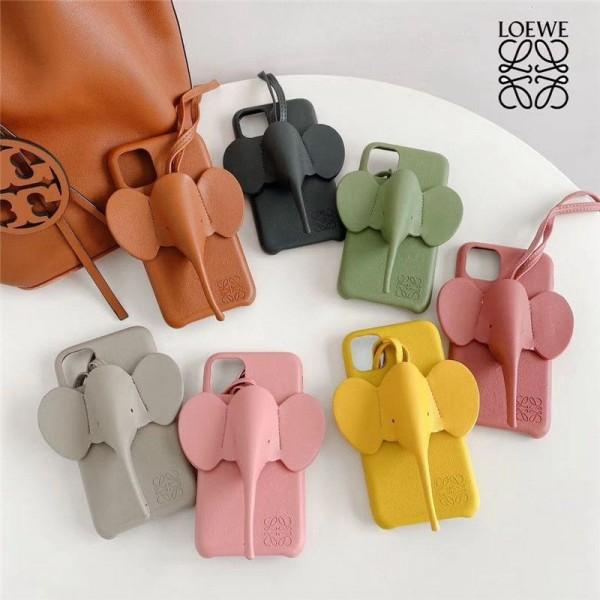 LOEWE/ロエベゾウ ブランド iphone12/12mini/12pro/12promaxスマホケース3D象のデザイン