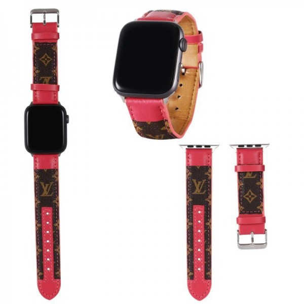 Lv/ルイヴィトン ブランドアップルウォッチバンドApple Watch 6/5/4/3ベルト 交換用バンド 女性 人気ビジネスマン用高級Apple Watch 6/5/4/3ブランドバンド本革