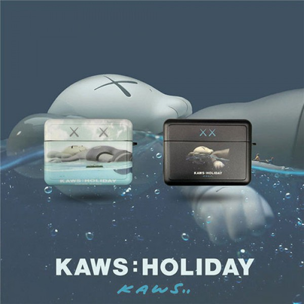 KAWS 保護 防塵Air pods1/2/3ケース 耐衝撃 落下防止Air pods 3/2/1ケースブランドAir pods proケース 防塵 落下防止 軽量