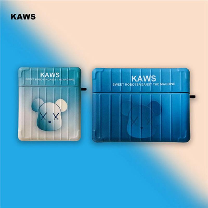 KAWS 保護 防塵Air pods1/2/3ケース 耐衝撃 落下防止Air pods 3/2/1ケースブランドAir pods proケース