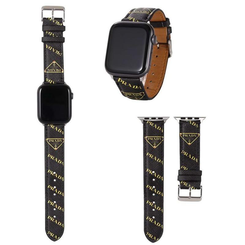普拉达(prada)模仿风格苹果手表带普拉达(prada)苹果手表6/5/4/3/2/1 / se带皮革